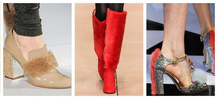Модная обувь осень-зима 2016 - 2017 с меховой отделкой, фото