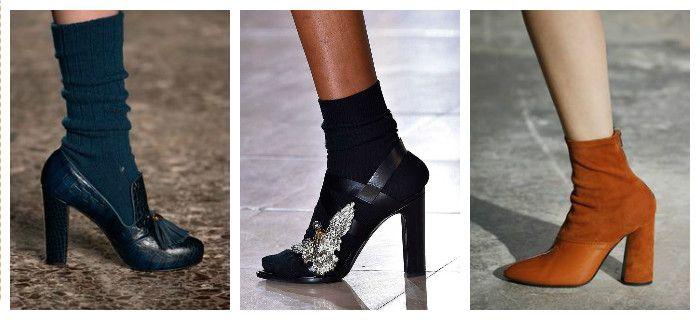 Модная обувь осень-зима 2016 - 2017 из кожи и замши, фото