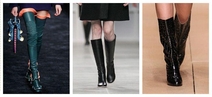 Модная обувь осень-зима 2016: сапоги, фото