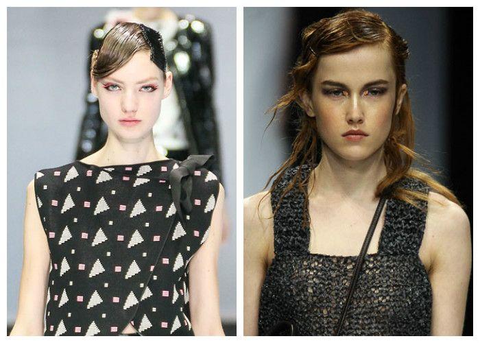 Модные прически с эффектом мокрых волос 2017, фото