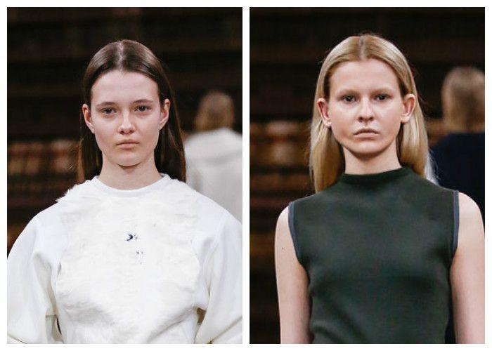 Модные прически, прямые и гладкие волосы 2017, фото