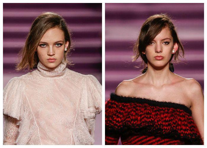 Модные прически с косой асимметричный пробор с челкой на бок 2017, фото