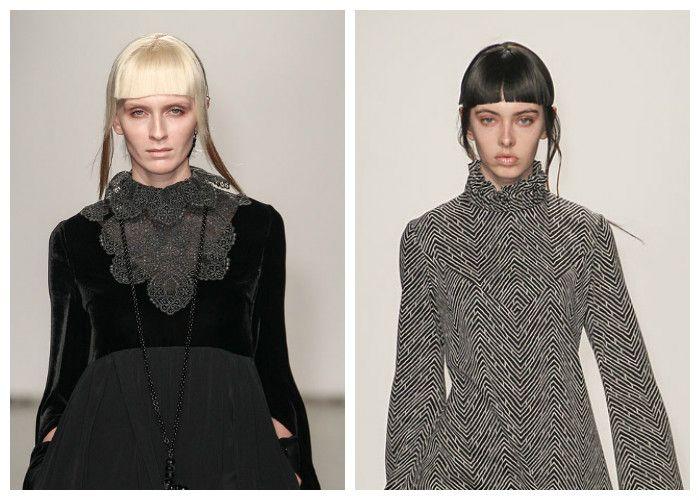 Модные прически с прямой челкой 2017, фото