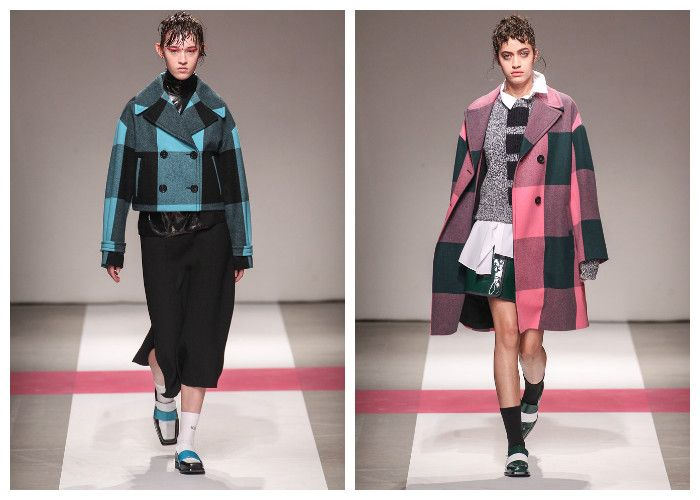 Модные пальто 2017 в клетку, фото.