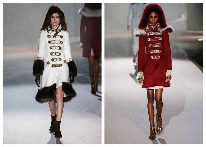 Модные пальто-мундиры 2017, фото.