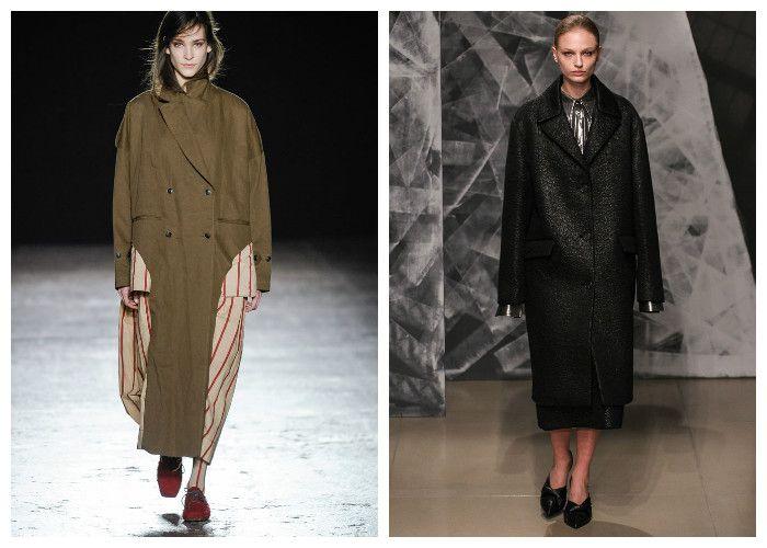 Модные пальто 2017, модель Free size или One size, фото