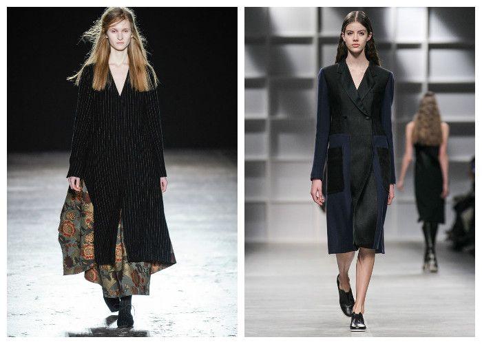 Модные черные пальто