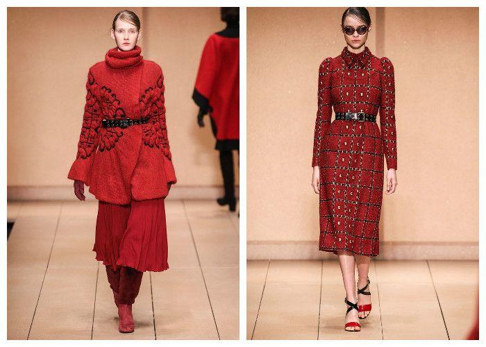 Модные красные пальто 2017, фото