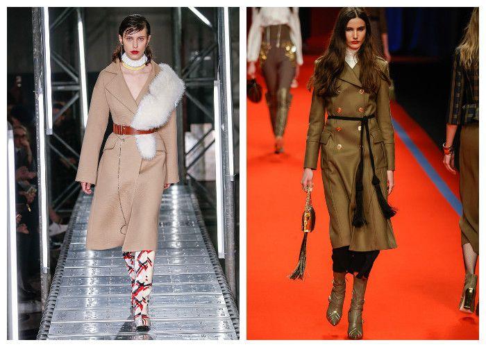 Модные пальто 2017, коричневые и бежевые, фото