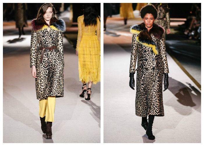 Модные пальто 2017 с принтом леопард, фото.