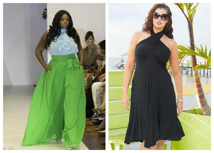 Летняя одежда для полных женщин, фото. Носите свободные юбки и платья, но не забываете подчеркивать талию.