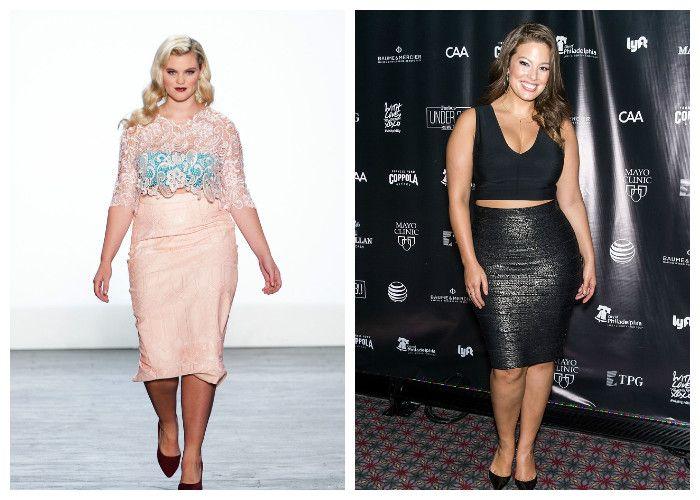 Одежда для полных женщин, фото.