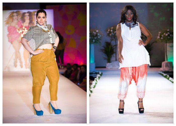 Одежда для полных женщин, фото. Свободные брюки на лето будут как нельзя кстати.