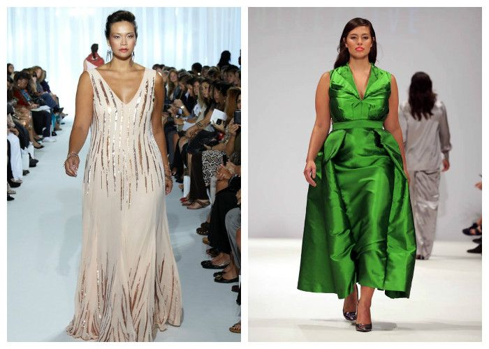 Одежда для полных женщин, фото. На полных девушках шикарно смотрятся длинные платья в пол.