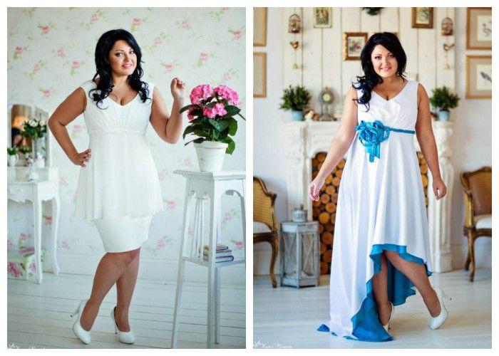 Свадебные платья 2017 для полных девушек / женщин, фото