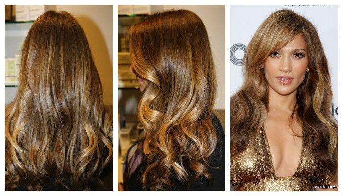 Брондирование волос на темные волосы, фото спереди, сзади и сбоку
