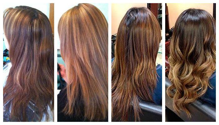 Брондирование волос на темные волосы, фото до и после процедуры