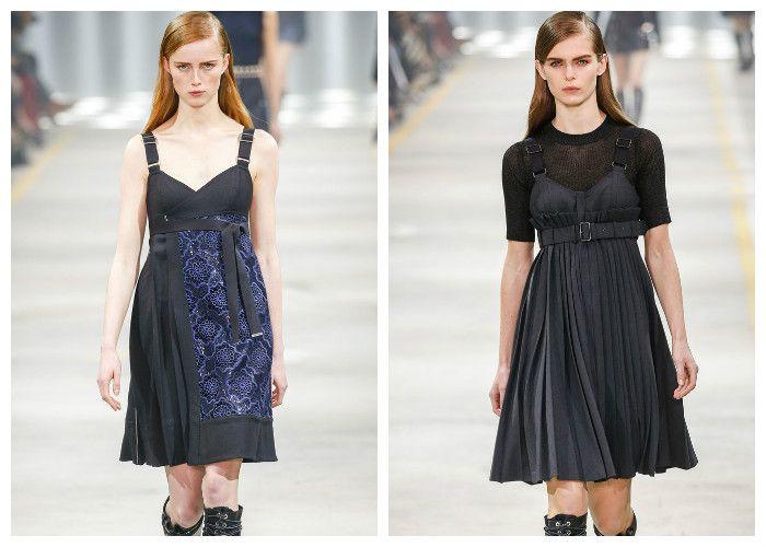 Модные платья 2017, фото. Тенденция: сарафаны с плиссированной юбкой.