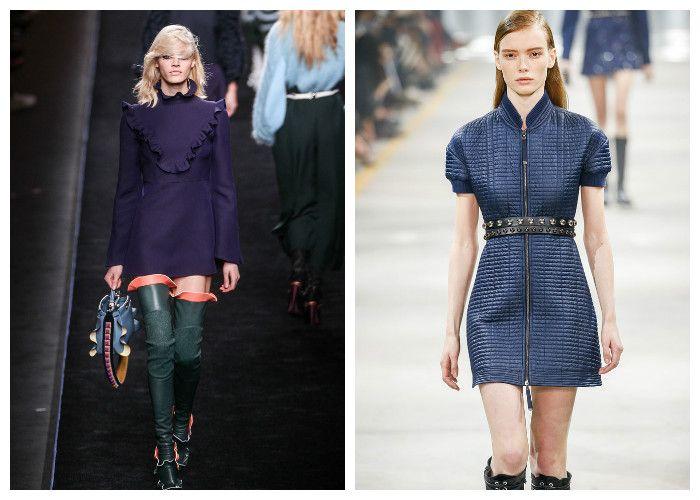 Модные короткие платья 2017, фото.
