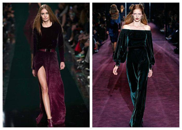 Модные платья 2017. Тренд сезона - бархат, фото