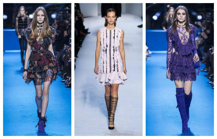 Модные тенденции осень - зима 2016 - 2017, фото из коллекций Elie Saab, Giambattista Valli