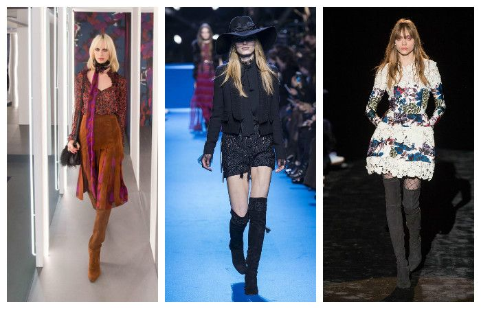 Модные тенденции осень - зима 2016 - 2017, фото из коллекций Elie Saab, Emanuel Ungaro, Diane von Furstenberg