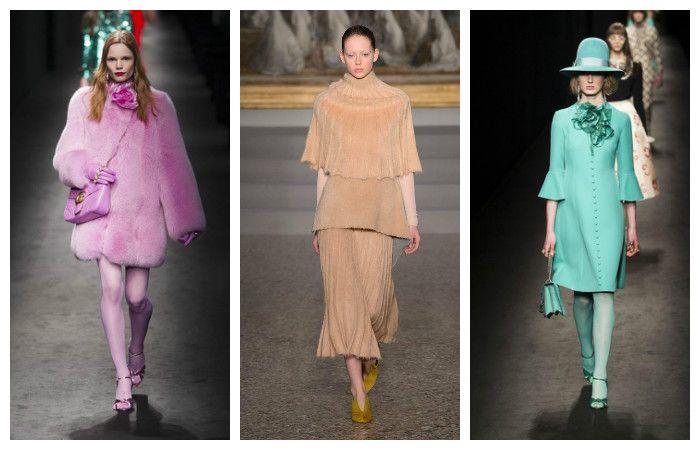 Модные тенденции осень - зима 2016 - 2017, фото из коллекций Gucci, Giada