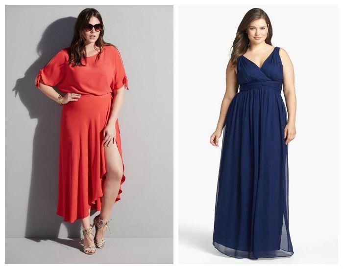 Платья для полных девушек / женщин, фото. Греческий стиль.
