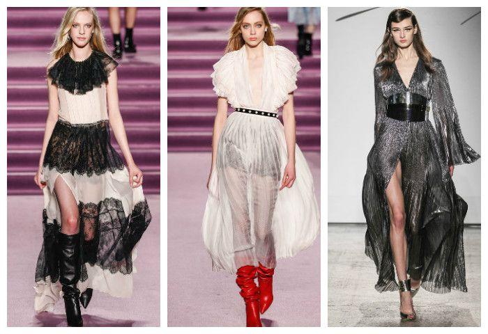 Мода осень зима 2016 - 2017: модные платья, фото