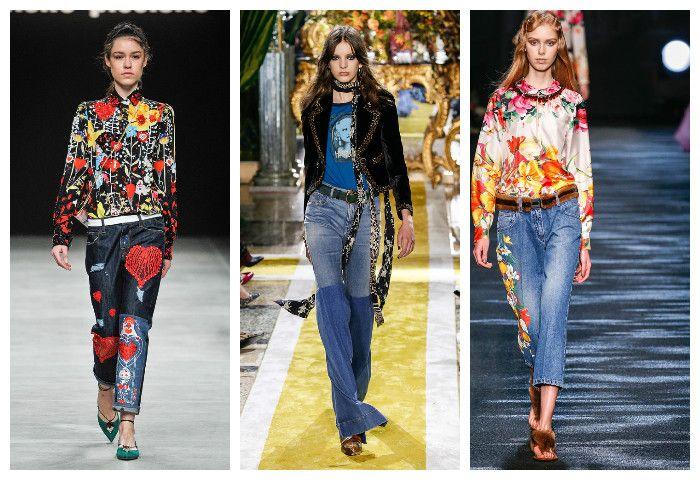 Мода осень зима 2016 - 2017: джинсы, фото