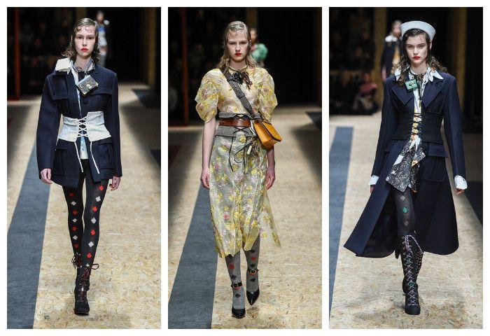 Мода осень зима 2016 - 2017: Prada, фото