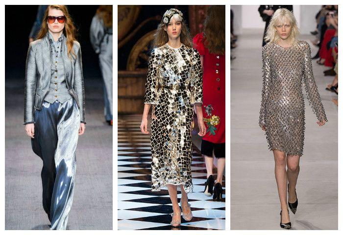 Мода осень зима 2016 - 2017: блеск и металлик, фото