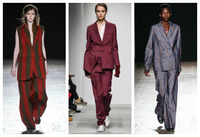 Мода осень зима 2016 - 2017: костюмы с брюками, фото