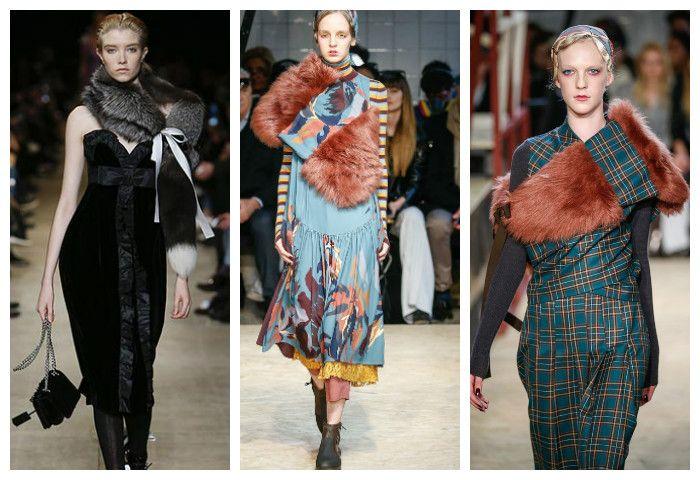 Мода осень зима 2016 - 2017: меховые накидки, фото