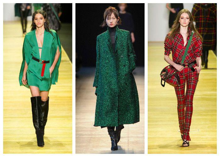 Модные цвета осень - зима 2016 - 2017: изумрудный, Barbara Bui и Costume National, фото