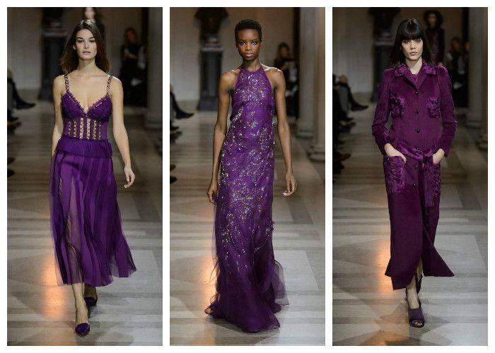 Модные цвета осень - зима 2016 - 2017: фиолетовый, коллекция Carolina Herrera, фото