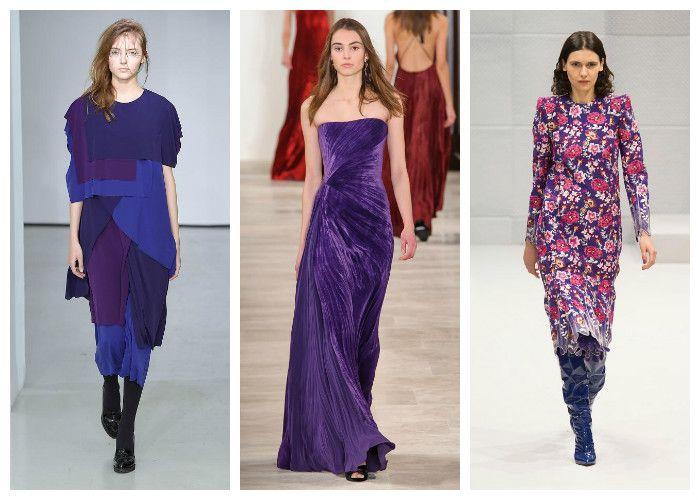 Модные цвета осень - зима 2016 - 2017: фиолетовый, коллекции Atsuro Tayama, Ralph Lauren и Balenciaga, фото