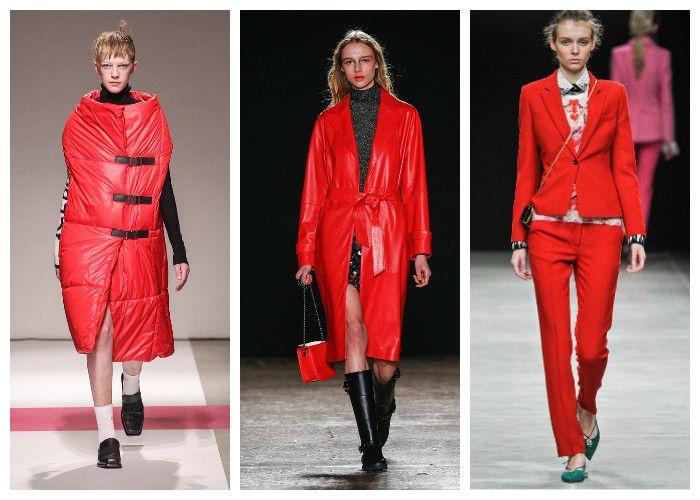 Модные цвета осень - зима 2016 - 2017: красный, фото