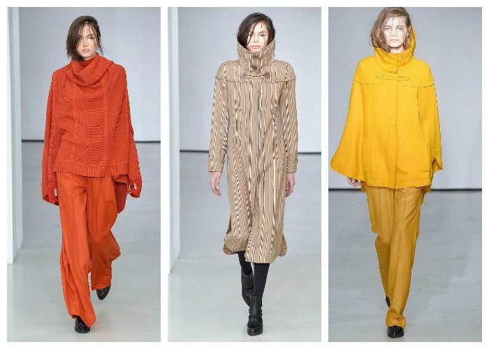 Модные цвета осень - зима 2016 - 2017: оранжевые, бежевые и коричневые тона, коллекция Atsuro Tayama, фото