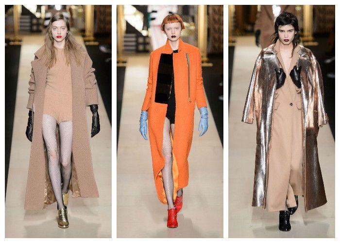 Модные цвета осень - зима 2016 - 2017: оранжевые, бежевые и коричневые тона, коллекция Max Mara, фото