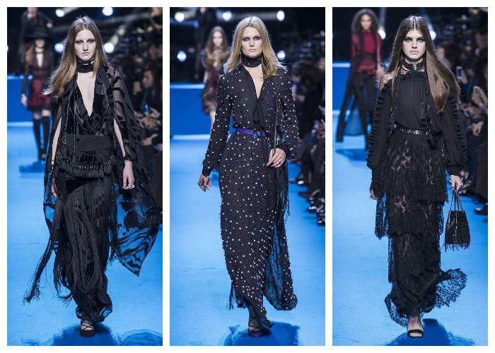 Модные цвета осень - зима 2016 - 2017: черный, коллекция Elie Saab, фото