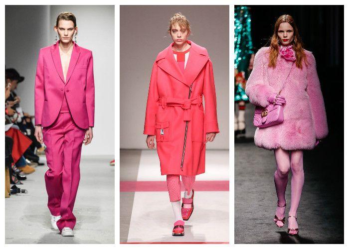Модные цвета осень - зима 2016 - 2017: розовый, фото