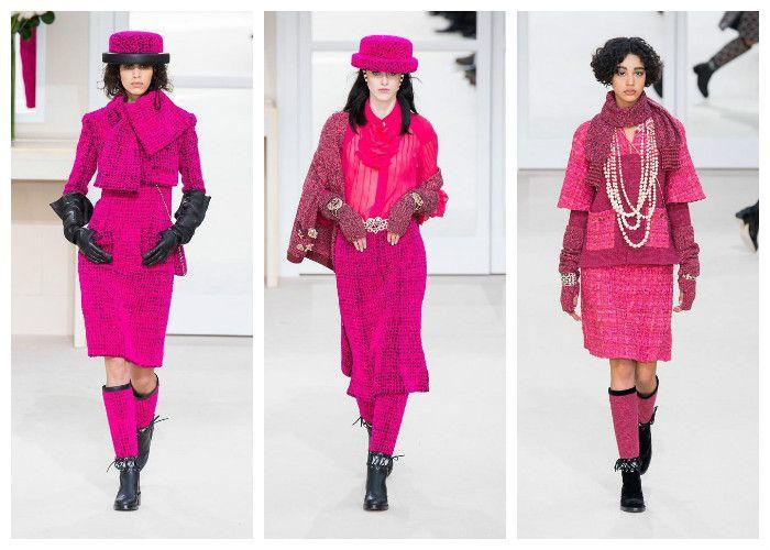 Модные цвета осень - зима 2016 - 2017: розовый коллекция Chanel, фото
