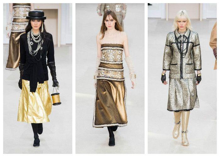Модные цвета осень - зима 2016 - 2017: металлик коллекция Chanel, фото