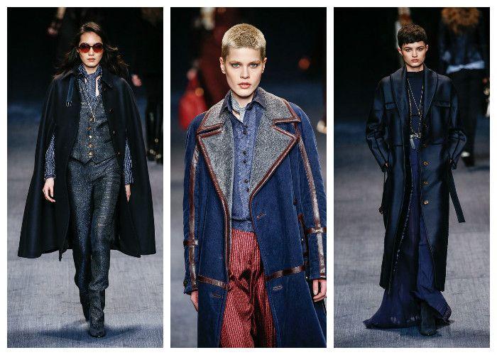 Модные цвета осень - зима 2016 - 2017: синий коллекция Trussardi, фото