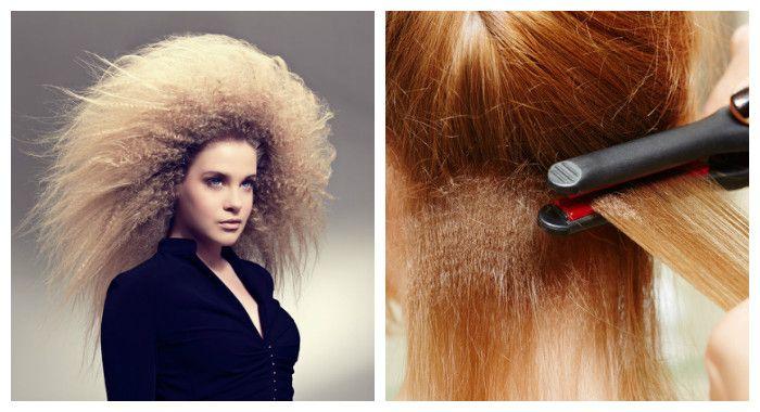 Создаем прикорневой объем волос с помощью гофрирования волос у корней, фото