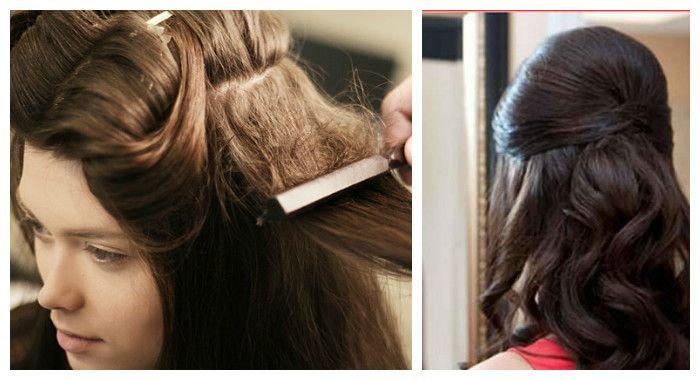 Создать прикорневой объем волос можно с помощью начесов или специальных шаньенов и валиков для создания причесок, фото