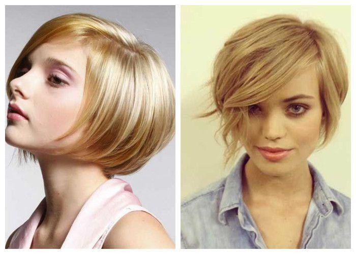 Стрижка боб на короткие волосы, девушка 20 лет, фото