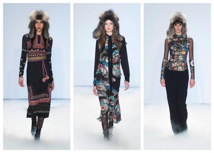 Модные тренды осень - зима 2016 - 2017. Фото из коллекции Nicole Miller.