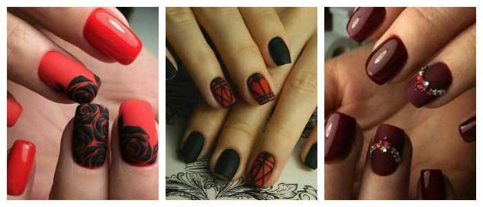 Фото дизайна ногтей на Новый год в темных тонах